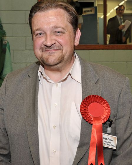 Cambridgeshire County Council election count at the Hudson Leisure Centre, Wisbech. Dean Reeves (Lab
