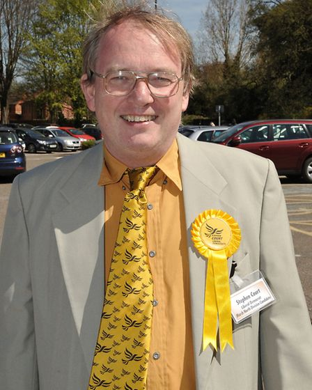 Cambridgeshire County Council election count at the Hudson Leisure Centre, Wisbech. Stephen Court. (
