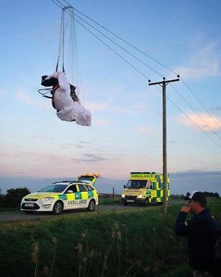 Paramotor accident