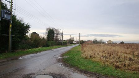 Back Road, Murrow, where plans for two holiday homes have been turned down.
