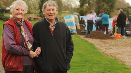 An archaeological dig is taking place at the home of (pictured) Peter and Christine Hansed. Picture