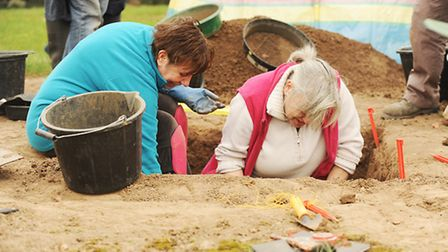 An archaeological dig is taking place at the home of Peter and Christine Hansed. Picture: Ian Burt