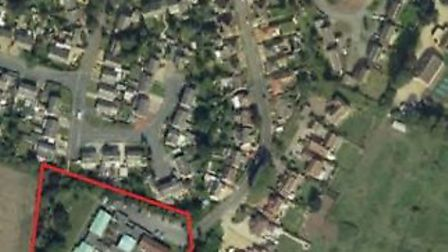 The aerial view of the site