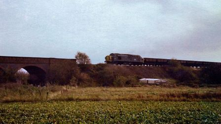 Photgraph by Gerard Fletcher (in 1980) it was taken from the Rings End viaduct from the March side