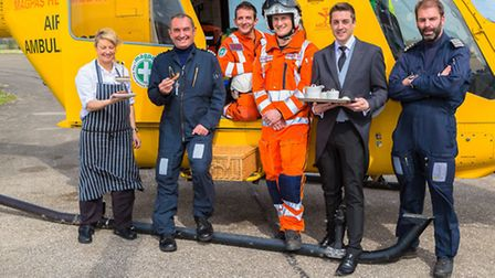 The Magpas crew joined by staff from Poets House