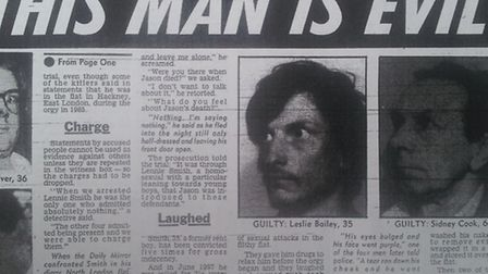 How the Daily Mirror at the time reported Bailey's trial