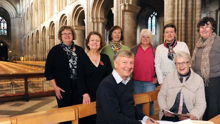 Members of the High Suffolk Flower Club and the Ely Cathedral Flower Guild with Creative Directors R