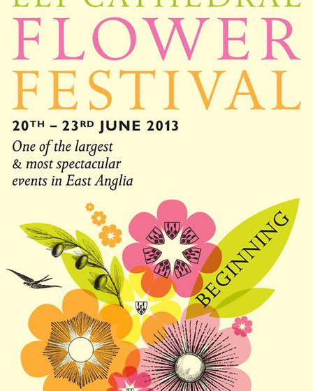 Ely Cathedral Flower Festival poster