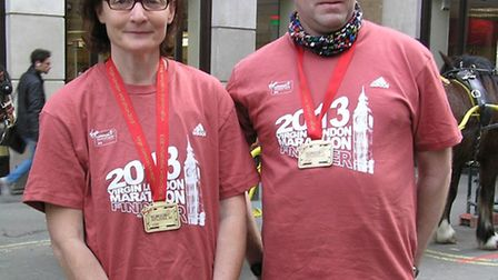 Sue Harrington and Gavin Foster pleased to have finished.