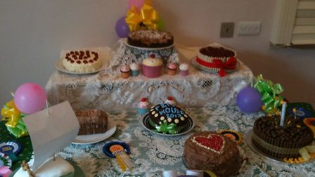 Some of the cakes made by residents in Ely