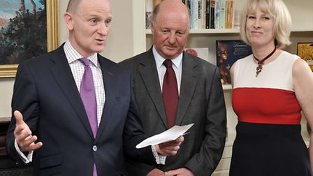 Launch of YourEly. From left: Cllr Tom Kerby, Sir James Paice MP and Caroline Bailey.