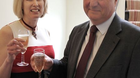 Launch of YourEly. Left: Caroline Bailey and Sir James Paice MP.
