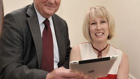 Launch of YourEly. Left: Sir James Paice MP and Caroline Bailey.