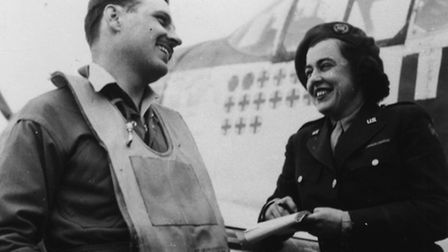 Black and white photos on show at Duxford show Americans in UK during the last war