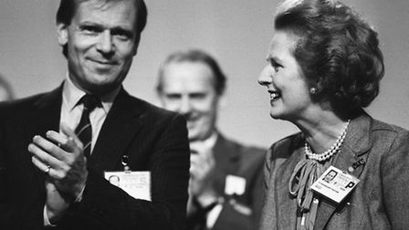 Library file picture dated 7/10/86 of the Prime Minister Margaret Thatcher with Jeffrey Archer, depu
