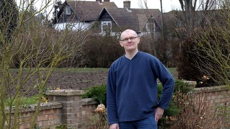 Paul Brett who has had a long running battle with Fenland District Council over noisy dogs neighbour