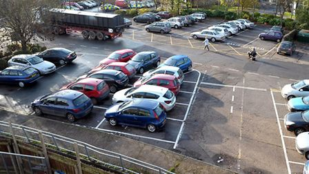Cars parking in the City Road lorry park back in 2010.