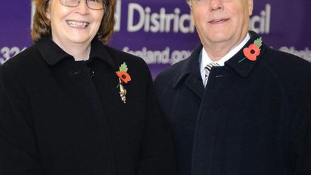BOTH STANDING DOWN: Cllr Jill Tuck with Cllr Geoff Harper, former leader of Fenland District Council