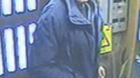 The man police would like to speak to in connection with a theft