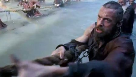 Hugh Jackman in Les Miserables.Chief petty office Nathan Dua, who is based in Portsmouth for the Roy