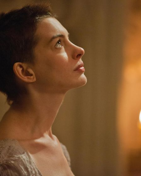 This film image released by Universal Pictures shows actress Anne Hathaway portraying Fantine, a str