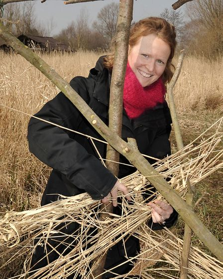 Wicken Fen.Den Building to gathering materials from the Fen and learning how to construct a secret d
