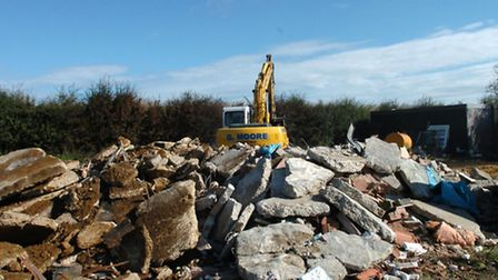 Leonard Fulcher's piggery at Foul Anchor was demolished in August 2006.