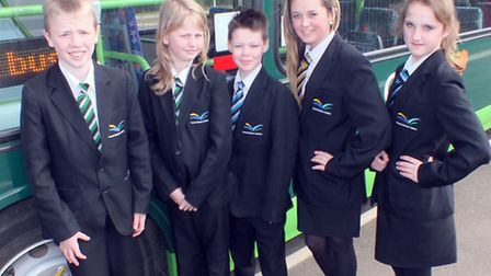 Students getting the new bus service