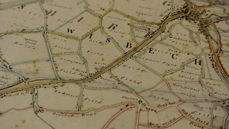 A map of Wisbech, which has been exhibited in Tel aviv