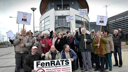 FenRATs campaigners protested at the Boathouse in Wisbech in February 2011 when a public inquiry was