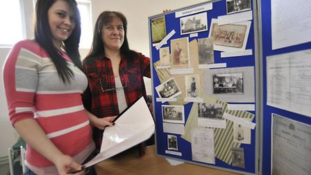 Soham Schools Heritage Day, at Soham Library, (l-r) Social Media for Hertiage Megan Arends and Herit