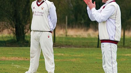 1st Xl March cricket v Downham Town, Too cold for cricket. Picture: Pat Ringham.