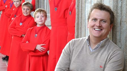 Aled Jones and Ely Cathedral choristers