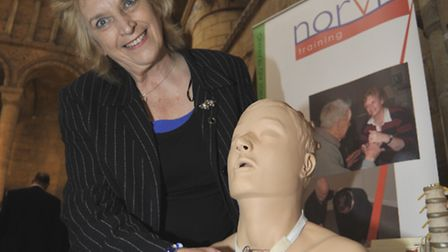 Celebration of Business at Ely Cathedral, Wendy Powels from Norvic Training in Dry Drayton