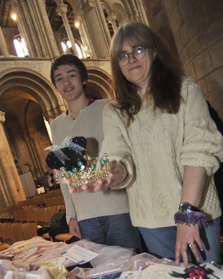 Celebration of Business at Ely Cathedral, (l-r) Tim Paynter and Ann Rayner from Thistle Down Jewelle