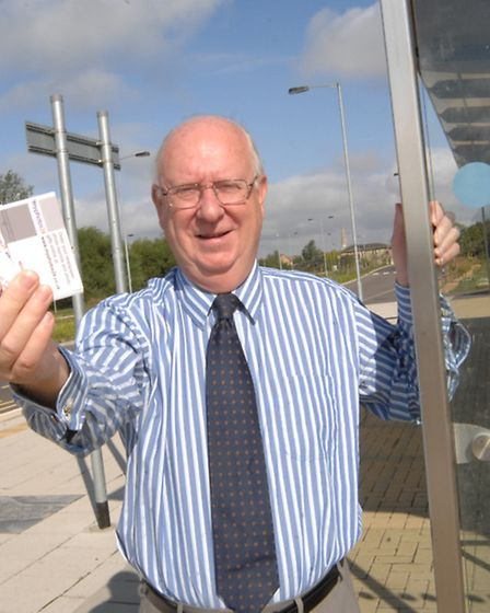 Guided Bus Ticket Giveaway, Cambs County Councillor Ian Bates