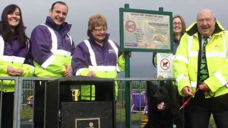 Cllr Peter Murphy and Street Scene team at Chatteris