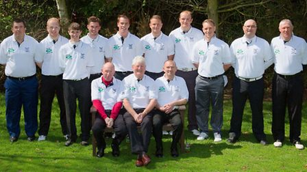 Tydd St Giles Golf club first team and team Shirt Sponsorship deal with Hunters Land Rover Kings Lyn