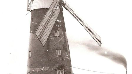 Burwell Mill pictured in 1890