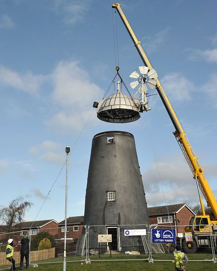 The 6-ton cap was lifted off Burwell Mill earlier this year. Picture: Steve Williams.