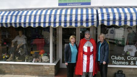 St George visited the shop earlier this year.