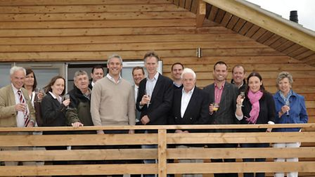 Fields End Water Doddington, new deluxe self catering lodges. official opening by Steve Barclay MP