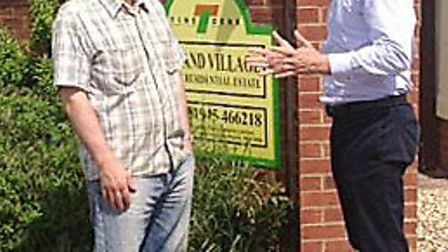 New rights to protect Park Home owners .Osborne Park home resident Allan Harris talks to Steve Barc