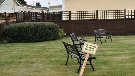 Tingdene Park, Wisbech, The Residents Association held a protest during the Commission's tour of th