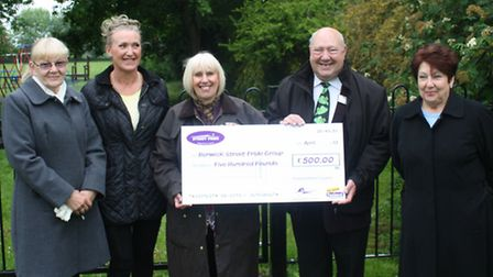 Cllr Murphy with Valerie Gobie, Tracy Phillips, Jill Hindle and Pat Cuthbert