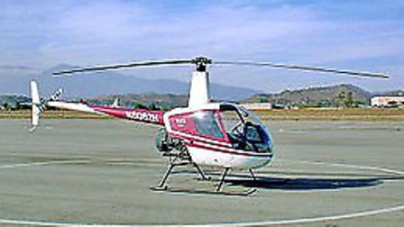 A Robinson R22 helicopter