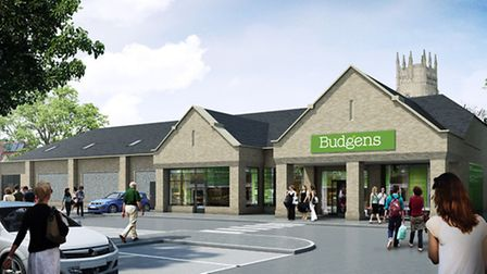 Outline of proposed extension for Budgens store, Soham: