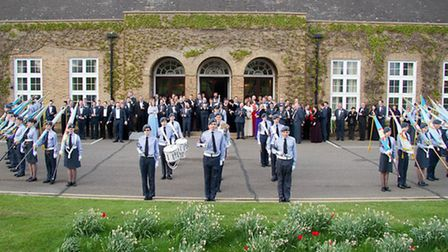 A parade was held in honour of Wing Commander Bower.