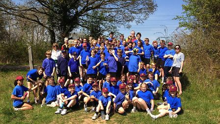 63 pupils in 'Gaslee' walked 522 miles collectively on the day.
