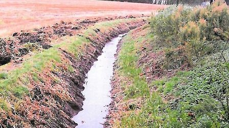 Middle Level Commissioners photograph of a clear section of the Old Croft river near to the blocked